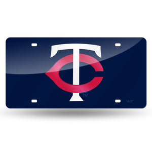 Minnesota Twins Blue Chrome Laser Tag License Plate