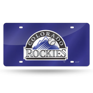 Colorado Rockies Purple Chrome Laser Tag Liicense Plate