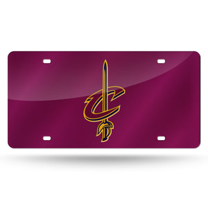 Cleveland Cavaliers Red Chrome Laser Tag License Plate