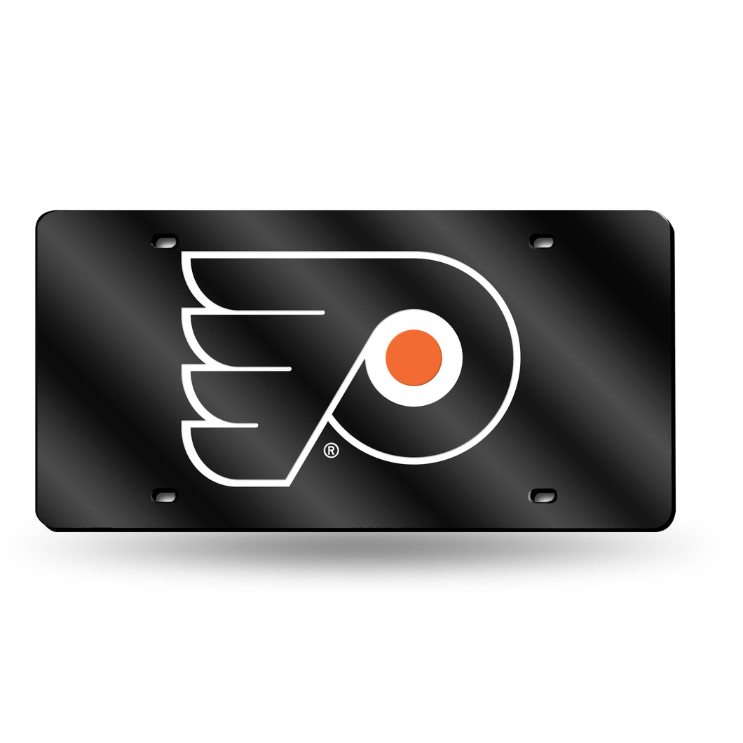 Philadelphia Flyers Black Chrome Laser Tag License Plate