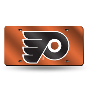 Philadelphia Flyers Orange Chrome Laser Tag License Plate