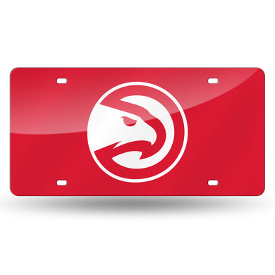 Atlanta Hawks Chrome Laser Tag License Plate