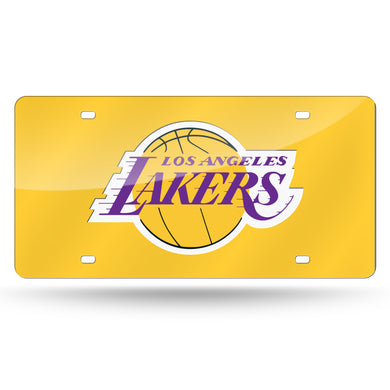 Los Angeles Lakers Yellow Chrome Laser Tag License Plate