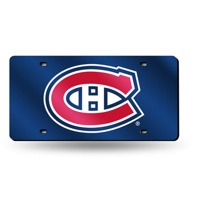 Montreal Canadiens Blue Chrome Laser Tag License Plate