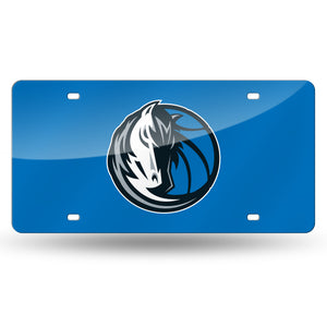 Dallas Mavericks Chrome Laser Tag License Plate