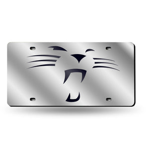 "Carolina Panthers ""Whiskers"" Laser Tag License Plate"