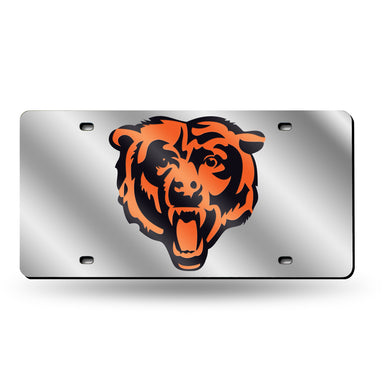 Chicago Bears Silver Laser Tag License Plate