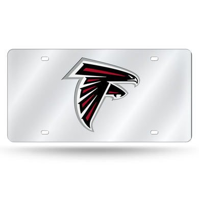 Atlanta Falcons Silver Laser Tag License Plate