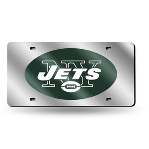 New York Jets Silver Laser Tag License Plate