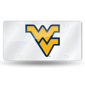 West Virginia Mountaineers Silver Laser Tag License Plate