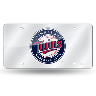 Minnesota Twins Silver Chrome Laser Tag License Plate