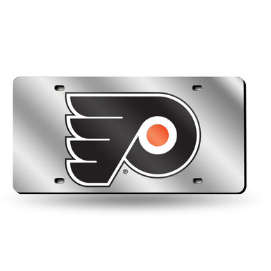 Philadelphia Flyers Silver Chrome Laser Tag License Plate