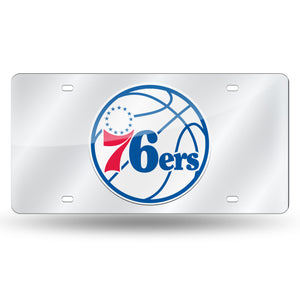 Philadelphia 76ers Chrome Laser Tag License Plate