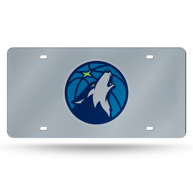 Minnesota Timberwolves Chrome Laser Tag License Plate
