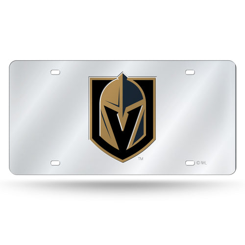 Las Vegas Golden Knights Silver Chrome Laser Tag License Plate
