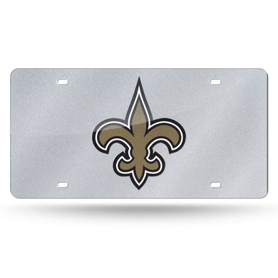 New Orleans Saints Bling Laser Tag License Plate