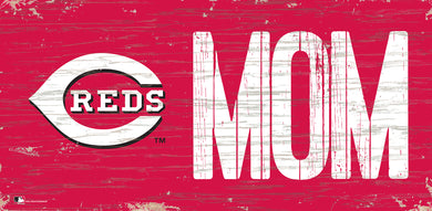 Cincinnati Reds Mom Wood Sign - 6