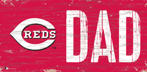"Cincinnati Reds Dad Wood Sign - 6""x12"""
