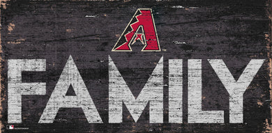 Arizona Diamondbacks Family Wood Sign - 12