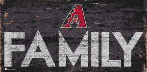 "Arizona Diamondbacks Family Wood Sign - 12"" x 6"""