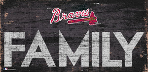 Atlanta Braves Family Wood Sign