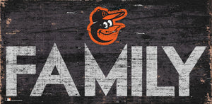 Baltimore Orioles Family Wood Sign