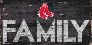 Boston Red Sox Family Wood Sign