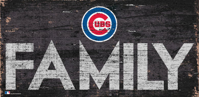 Chicago Cubs Family Wood Sign