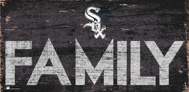 Chicago White Sox Family Wood Sign