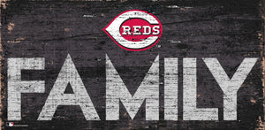 Cincinnati Reds Family Wood Sign