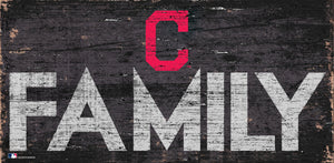 Cleveland Indians Family Wood Sign