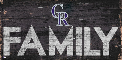 Colorado Rockies Family Wood Sign