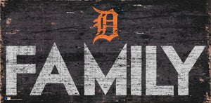 Detroit Tigers Family Wood Sign