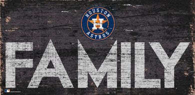 Houston Astros Family Wood Sign