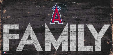 Los Angeles Angels Family Wood Sign