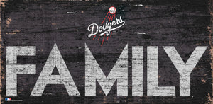 Los Angeles Dodgers Family Wood Sign