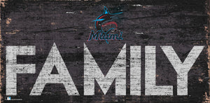 Miami Marlins Family Wood Sign