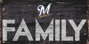 Milwaukee Brewers Family Wood Sign