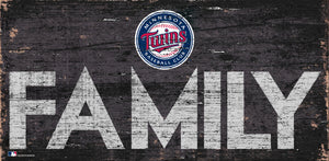 Minnesota Twins Family Wood Sign