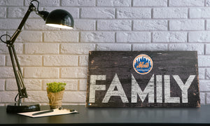 New York Mets Family Wood Sign