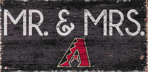 "Arizona Diamondbacks Mr. & Mrs. Wood Sign - 6""x12"""