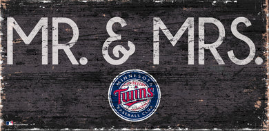 Minnesota Twins Mr. & Mrs. Wood Sign - 6