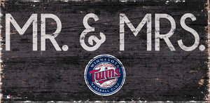 "Minnesota Twins Mr. & Mrs. Wood Sign - 6""x12"""