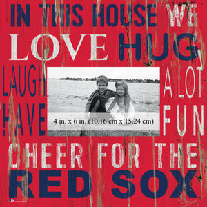 Boston Red Sox In this House Picture Frame