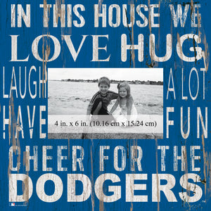 Los Angeles Dodgers In this House Picture Frame