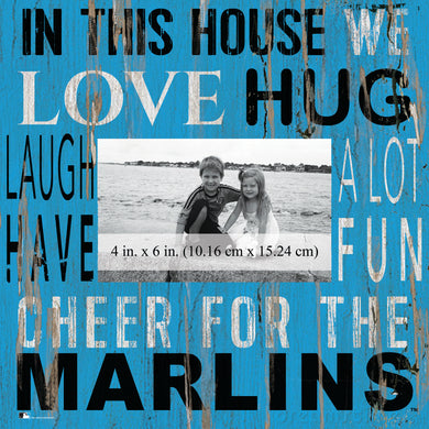 Miami Marlins In this House Picture Frame