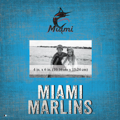 Miami Marlins Team Name Picture Frame