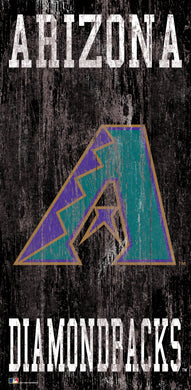 Arizona Diamondbacks Heritage Logo Wood Sign - 6