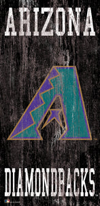 "Arizona Diamondbacks Heritage Logo Wood Sign - 6""x12"""