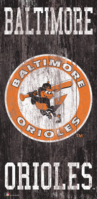 Baltimore Orioles Heritage Logo Wood Sign - 6